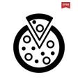 italian pizza icon vector image