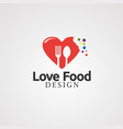love food with digital touch concept icon element vector image vector image
