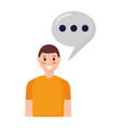 man speech bubble vector image vector image