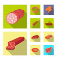 meat and ham logo set of vector image