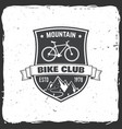 mountain bike club vector image