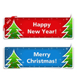 New year and Christmas banners eps10 illus vector image
