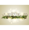 New Year card with coniferous design vector image vector image