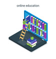 online education concept 03 vector image