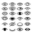 outline eye icons vector image vector image