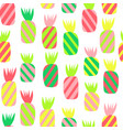 pineapples pattern seamless repeating vector image