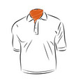 polo shirt template outline style icon vector image