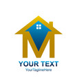real estate logo designs for business visual vector image vector image