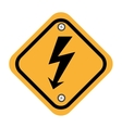 rhombus security yellow sign vector image vector image