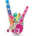 rockers hand vector image vector image