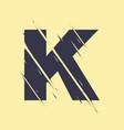 scribbled letter k vector image vector image
