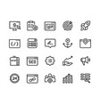 seo line icons web business trend network vector image