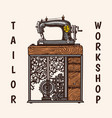 sewing machine tailor shop badges label tool vector image vector image