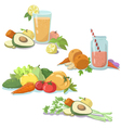 smoothie fresh juice vector image vector image