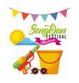 songkran festival thailand bucket sunglasses water vector image vector image