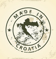 Stamp with map of Croatia vector image vector image