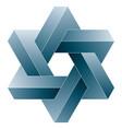 star david impossible hexagram shape vector image