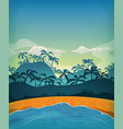 summer tropical desert island vector image