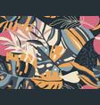 trendy creative summer seamless patterns vector image