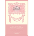 vintage background wedding invitation vector image vector image
