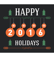 Vintage Happy holidays postcard holiday poster vector image vector image