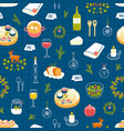 winter dinner party pattern vector image
