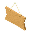 wooden signboard icon isometric style vector image vector image