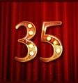 35 years gold anniversary celebration logo vector image