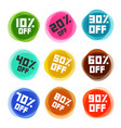 business off labels set discount icons vector image