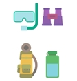 Equipment for sport and travel vector image