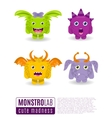 monsters with toothy grins vector image