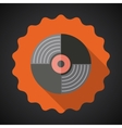 Music Vinyl Record Flat Icon vector image