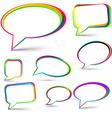 Speech signs set vector image