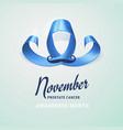world prostate cancer day concept prostate cancer vector image