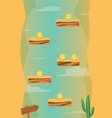 cartoon vertical desert game background vector image