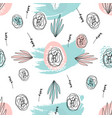 abstract hand drawn floral doodle pattern vector image vector image