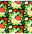background with a pattern of flowers vector image vector image