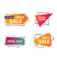 badges or labels with geometric shapes vector image vector image