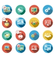 Business and Startup Flat Icons Set vector image