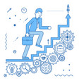 business ladder stairs businessman goes to success vector image vector image