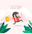 businessman running to vacation vector image
