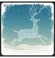 Christmas deer background vintage vector image