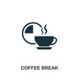 coffee break icon premium style design from vector image vector image