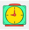 colorful alarm clock icon cartoon style vector image