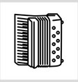 concept of flute accordion vector image