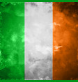 crumpled flag of ireland vector image vector image