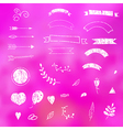 Design elements love vector image vector image