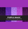 diamond pattern set purple magic seamless vector image vector image
