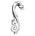 dolphin handle vessel is a pilaster designed by vector image vector image