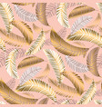 exotic seamless pattern with palm leaves vector image